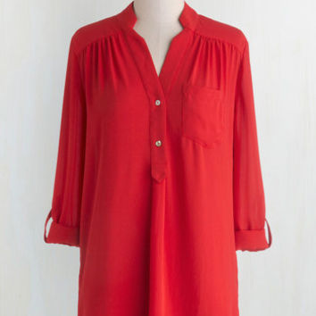 Long 3 Pam Breeze-ly Tunic in Tomato