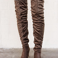 Eve Over The Knee Boots Taupe