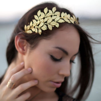 Golden Leaf Head Band