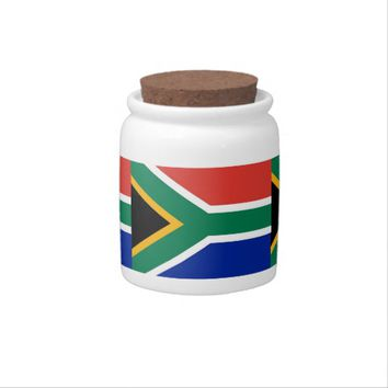 South African Flag Candy Jar