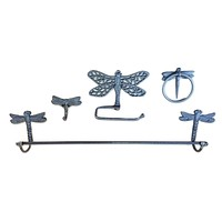 Cast Iron Dragonfly Bathroom Accessory set
