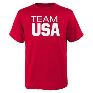 Licensed Sports Team USA 2016 Olympics Pride T-Shirt - Red KO_20_2