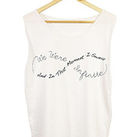 "Perks of Being a Wallflower ""And In That Moment I Swear We Were Infinite"" Shirt FREE shipping in US"