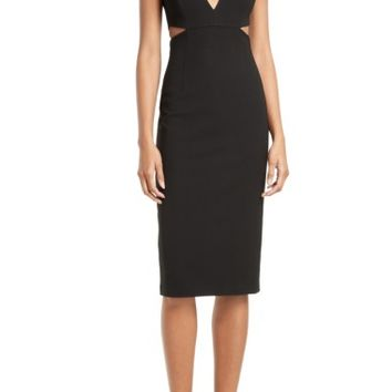 Alice + Olivia Riki Cutout Sheath Dress | Nordstrom