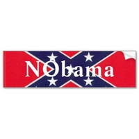 Confederate Anti-Obama Bumper Sticker from Zazzle.com