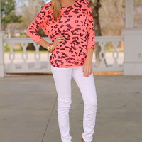 She's A Wild One Top,Neon Coral