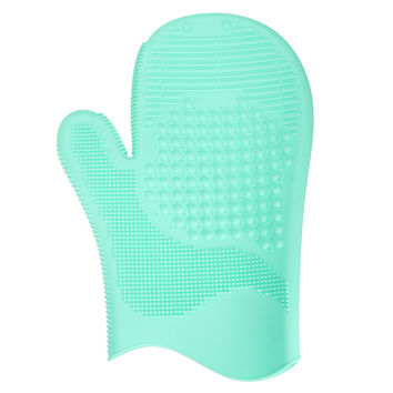 Silicone Makeup Brush Washing Glove Scrubber Cleaning Cosmetic Brushes Cleaner Mat 4 Colors