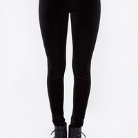 Niva Velvet Leggings - Black
