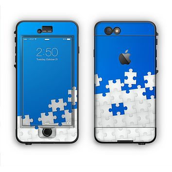 The Blue & White Scattered Puzzle Apple iPhone 6 Plus LifeProof Nuud Case Skin Set