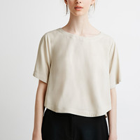 Boxy Curved Hem Top