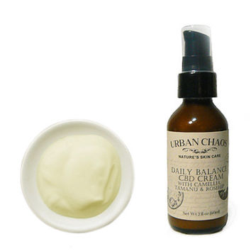CBD Cream - CBD Lotion with Organic Camellia Oil - Gotu Kola - Tamanu Oil - Rosehip Oil for Sensitive Skin Dry Skin Acne Eczema Psoriasis