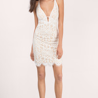 Kenan Plunging Lace Bodycon Dress