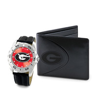 Georgia Bulldogs NCAA Men's Watch & Wallet Set