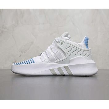 Adidas EQT BASK ADV Popular Women Casual Sport Running Shoes Sneakers White Blue I-AHXF