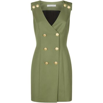 Pierre Balmain Double-Breasted Wool Dress | Harrods.com
