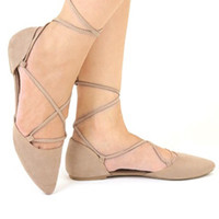 Bella Lace Up Flats