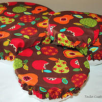 Fabric Elastic Food Cover Bowl Reusable by TailaCustomDesigns
