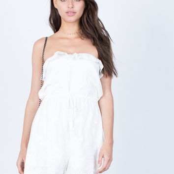 Charming Embroidered Romper