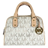 Michael Kors Small Signature Satchel - Vanilla