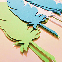 Feather Paper Die Cuts, Available in Multiple Sizes and Colors, Create to your Needs, Art Projects, Journals, Scrapbooking, Paper Projects