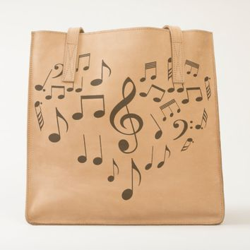 Singing Heart one-of-a-kind romantic Tote