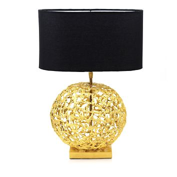 Shop online unique handmade sculptural Sphere Table Lamp | Peetal and Carissa