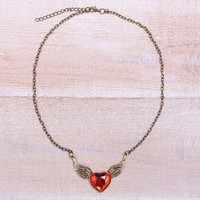 Fluttering Heart Necklace
