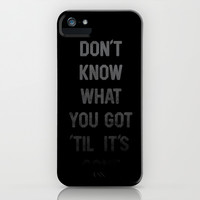 Gone iPhone & iPod Case by Ross Zietz