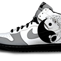 Yinyang Nike Dunks by Customs4you on Etsy