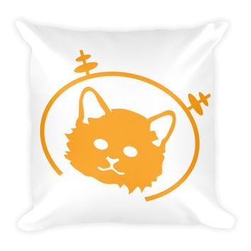 Space Cat - Throw Pillow
