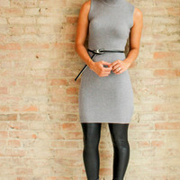 Baylee Sweater Dress - Grey