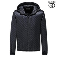 GUCCI 2018 autumn and winter new men's full-print logo thin jacket jacket