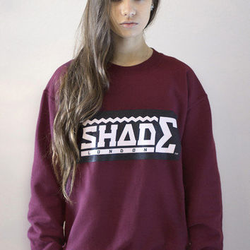 SHADE Sweatshirt Contrast Logo - Burgundy - SHADE London | The official website and online store for SHADE London