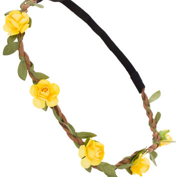 Trinity Floral Headband - Yellow