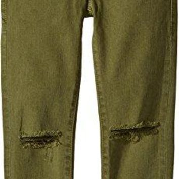 True Religion Kids Girl's Casey Ankle Skinny Jeans in Olive (Big Kids) Olive 14