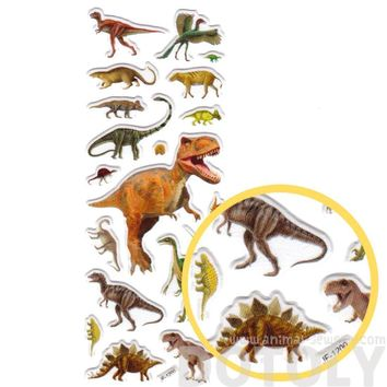 Dinosaur T-Rex Sauropods Raptors Shaped Prehistoric Animal Themed Photo Stickers