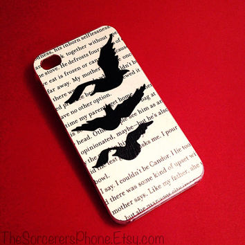 HANDMADE Real Book Page! Divergent Tris Tattoo ... iPhone 4 / 4s / 5 / 5s Samsung Phone Case cover Four Ravens Dauntless 5c All sizes! IPAD