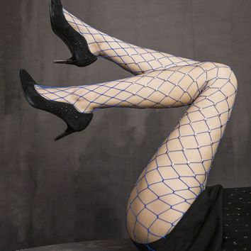 Sexy Women Shine Crystal Thin Fishnet Tights Stockings Pattern Pantyhose Mesh Shiny Star Sexy High Tights
