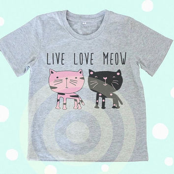 Cat tshirt -Graphic Kids Tee - Kids tshirts -Toddler tees -Toddler shirts - Cute Toddler Tees - Cat quote shirts - Slogan shirt