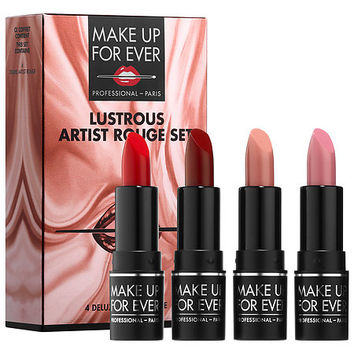 Lustrous Artist Rouge Lipstick Set - MAKE UP FOR EVER | Sephora