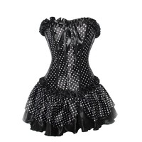 Rockabilly Polka Dot Corset Outfit