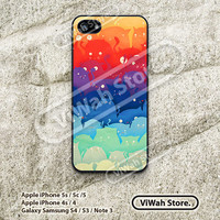Colorful Cats iPhone 5 Case, Paper Cut Cats iPhone 5 5s 5c Hard Case Rubber Case, cover skin case for iPhone 5 5s 5c case