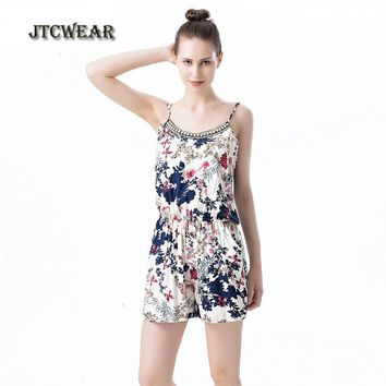 JTCWEAR Summer Sexy Woman Rompers Spaghetti Short Jumpsuits U Neck Sleeveless Playsuits Body care soft Girls Bodysuit Pajama 143