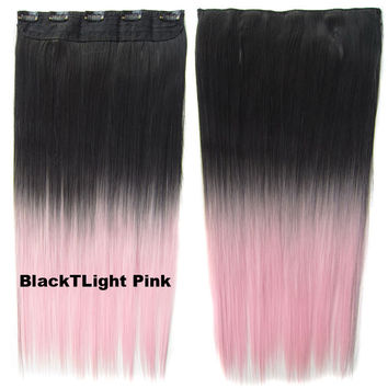 Best light ombre hair products on wanelo dip dye hairpieces new fashion 24 women clip in on gradient wig bath beauty pmusecretfo Images