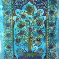 Tree of Life Peacock Blue  - Mellow Mood