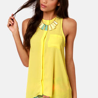 For the Win Yellow Tank Top