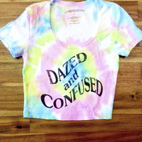 Dazed and Confused Crop Tee (Tie Dye) - Jawbreaking