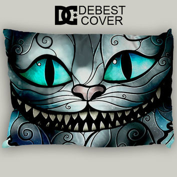Cheshire Cat Smile Pillow Case In 20 x 30 Inches