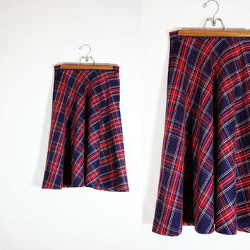 Vintage Sunny South Fashions of Dallas Tartan Plaid Circle Skirt