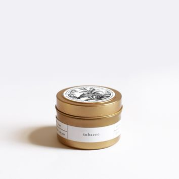 Tobacco Gold Travel Candle
